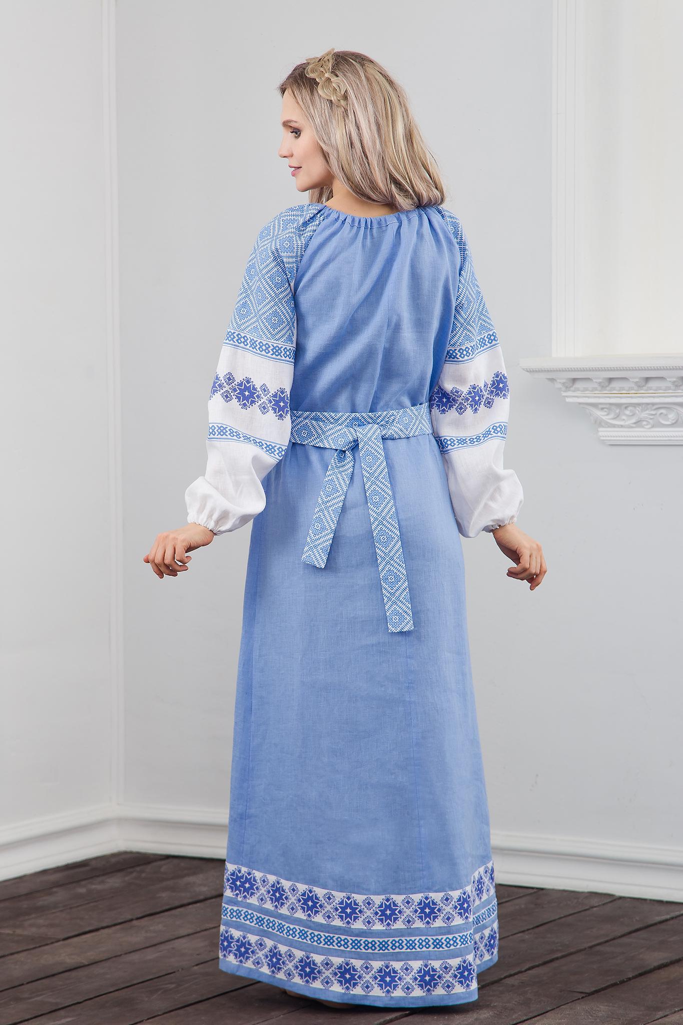Платье Репейник счастья вид сзади