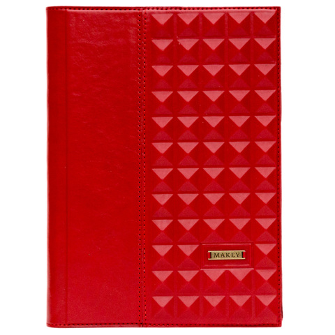 Ежедневник А5 «Геометрия» красный