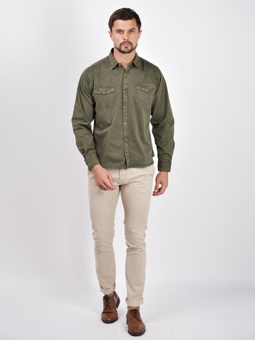 Рубашка д/р муж.  M922-02A-45GR
