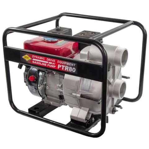 Мотопомпа бензиновая грязевая DDE PTR80  (вых 80 мм, 5.5 л.c,26м,1080л/мин, 3,6л,43кг) (PTR80), шт