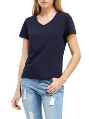 7575-9 футболка женская, темно-синяя