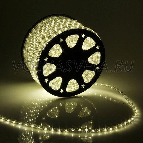 Дюралайт светодиодный, чейзинг, 11мм - 3 жилы - 24 led/m, тёплый белый - 50м