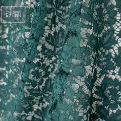 Бутылочно-зеленое кружево с изящным кордовым дизайном
