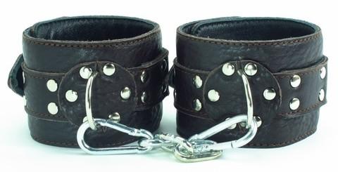 БДСМ наручники из мягкой кожи (BDSM арсенал)