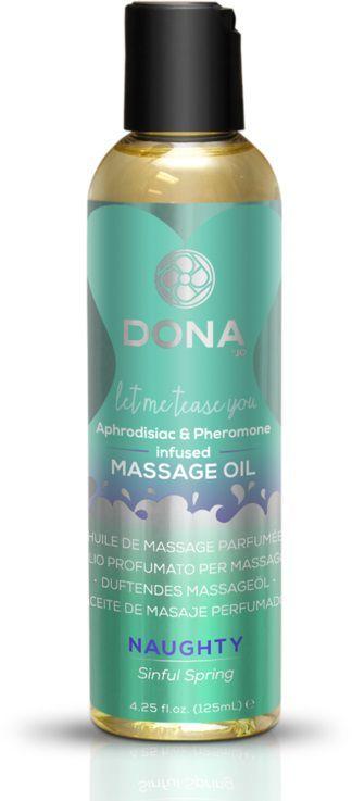 Массажные масла и свечи: Массажное масло с феромонами DONA Naughty Sinful Spring - 125 мл.