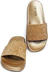 Сланцы пляжные женские J.B.P. Shoes NU25 Gold.