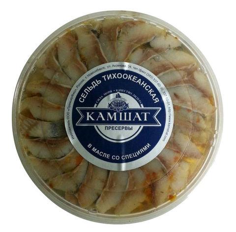 Сельдь филе в масле со специями Камшат 180г