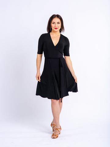 Платье с запахом на завязках, юбка годе арт.229