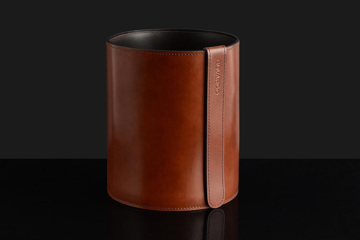 Корзина D30 BUVARDO PREMIUM из кожи Full Grain Toscana/Cuoietto шоколад