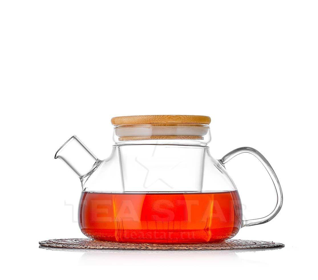 Заварочные стеклянные чайники Чайник заварочный Бамбук с колбой, стеклянный, 800 мл bambuk_800b.jpg