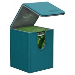 Ultimate Guard - Кожаная серо-голубая коробочка на 100+ карт
