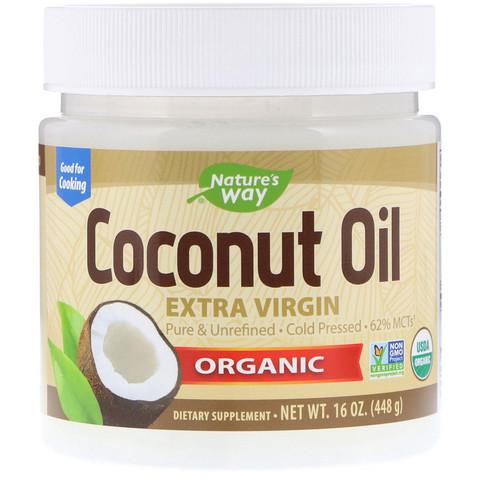 Nature's Way Органическое кокосовое масло холодного отжима (Extra Virgin) 454 г