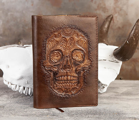 Ежедневник с черепом в мексиканском стиле Дня Мертвых (А5)