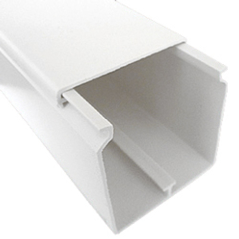 INSTA 60х60 Короб с крышкой (Крышка=60мм). 1шт=1м. Цвет Белый. Ecoplast (ЭКОПЛАСТ). 76006