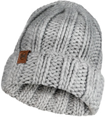 Вязаная шапка Buff Hat Knitted Vanya Melange Grey