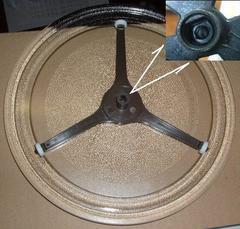 тарелка для микроволной печки LG в комплекте с подставкой