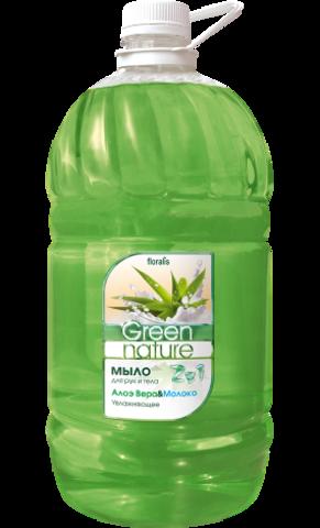 Floralis Green Nature Мыло для рук и тела 2в1 Алоэ Вера & Молоко 5000г