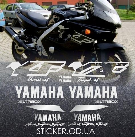 Набор виниловых наклеек на мотоцикл YAMAHA YZF 600R 1999, THUNDERCAT
