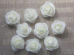 Роза из фоамирана кремовая диаметр 4 см