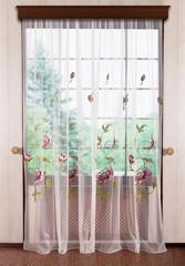 Готовая штора Jennifer. Cетка с вышивкой (розовый)
