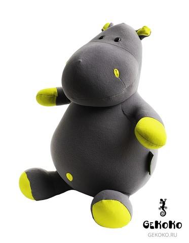 Подушка-игрушка антистресс «Бегемот Няша», желтый 3
