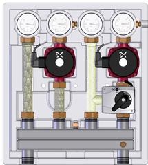 Насосно-смесительный модуль Meibes Kombimix UK MKSTM UPSO 15-65 ME 26102.41