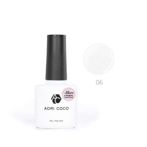 Гель-лак ADRICOCO Allure сream №06 камуфлирующий молочный с шиммером (8 мл.)