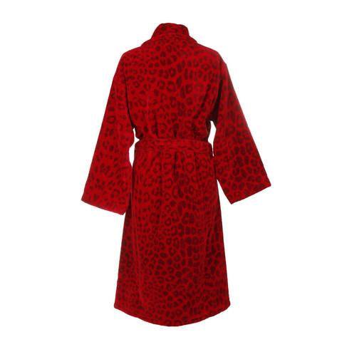 Элитный халат велюровый Leo красный от Roberto Cavalli