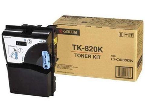 Kyocera TK-820K - тонер-картридж для Kyocera FS-C8100DN. Ресурс 15000 стр.