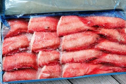 Окунь отборный морской сухой заморозки - брикет , Баренцево море
