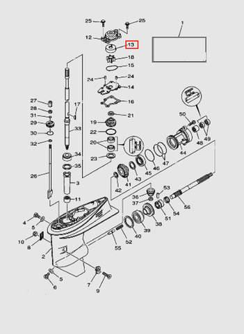 Стакан помпы для лодочного мотора T40 Sea-PRO (23-13)