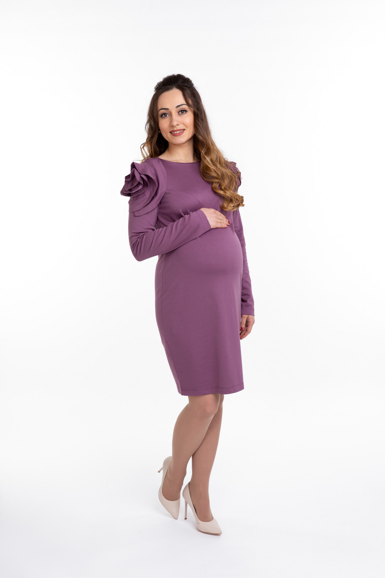 Платье для беременных 09938 брусничный
