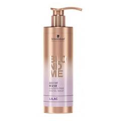 Schwarzkopf Blondme Blush Wash Lilac - Безсульфатный оттеночный шампунь для осветленных волос