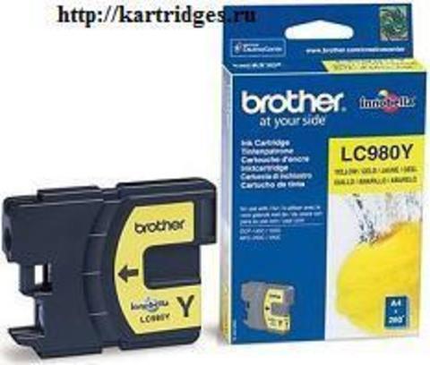 Картридж Brother LC980Y