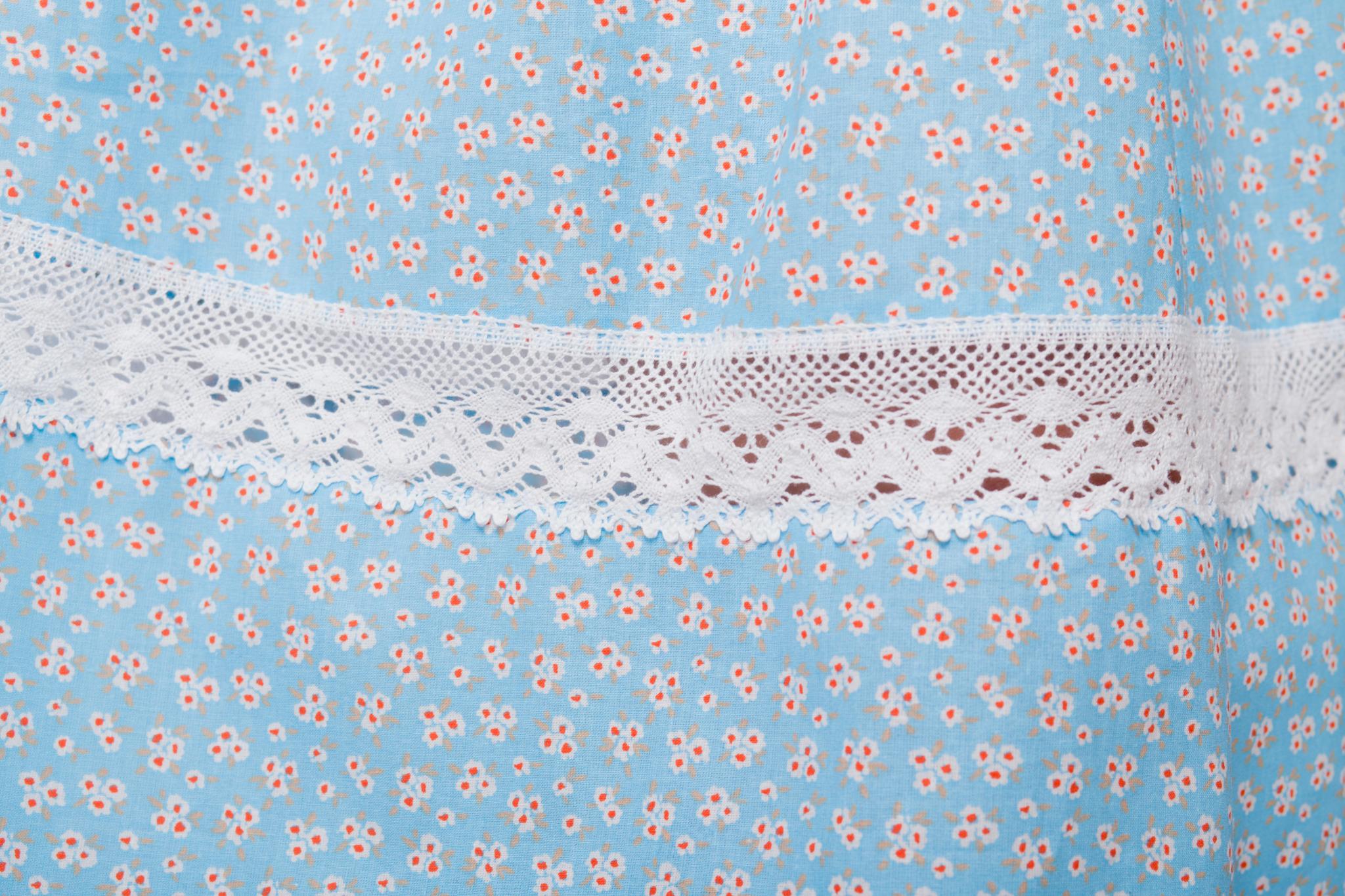Платье хлопковое Кружевные маргаритки вставка из кружева