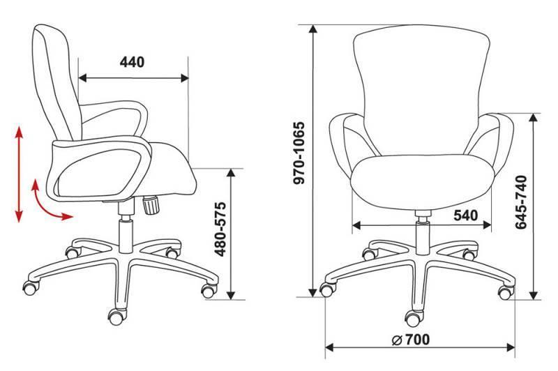 Кресло для персонала БЮРОКРАТ CH-818AXSN-Low