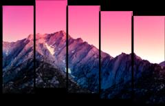 """Модульная картина """"Утро над горами"""""""