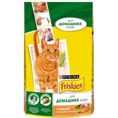 Purina Friskies для домашних кошек с курицей 1,5кг