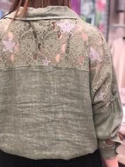 D Блузка Livans рубашка лен гипюр (В20)