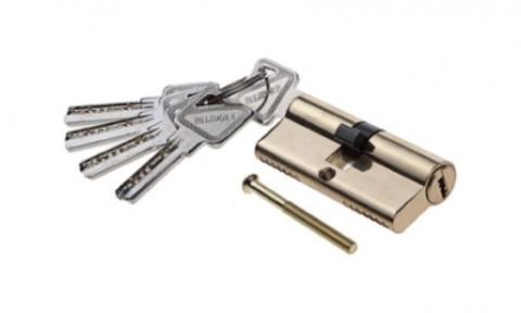 Фурнитура - Цилиндр  Palidore ключ-ключ, цвет золото