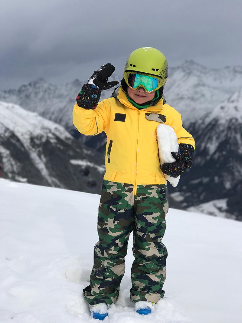 комбинезон детский зимний SASHA JUNIOR милитари1-желтый