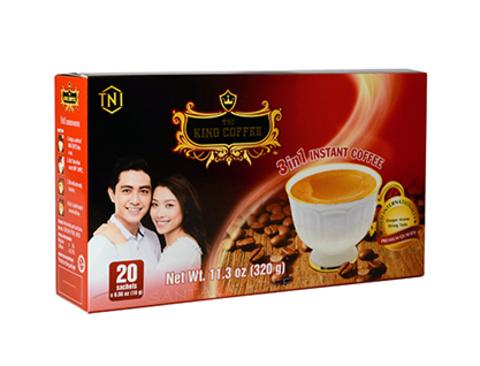 Вьетнамский растворимый кофе TNI King, 3 в 1, 20 пак.