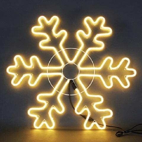 Снежинка светодиодная d-70 см. Фигура из гибкого неона