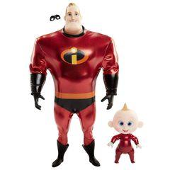Кукла Мистер Исключительность с Малышом Джек-Джек (Mr.Incredible & Jack-Jack) Суперсемейка 2 - Incredibles 2, Jakks Pacific