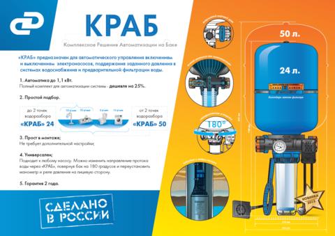 Комплект автоматизации на баке КРАБ 24