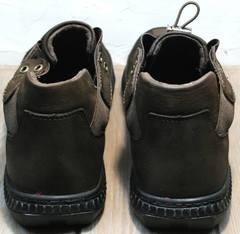 Модные мужские туфли сникерсы мужские демисезонные Luciano Bellini 71748 Brown
