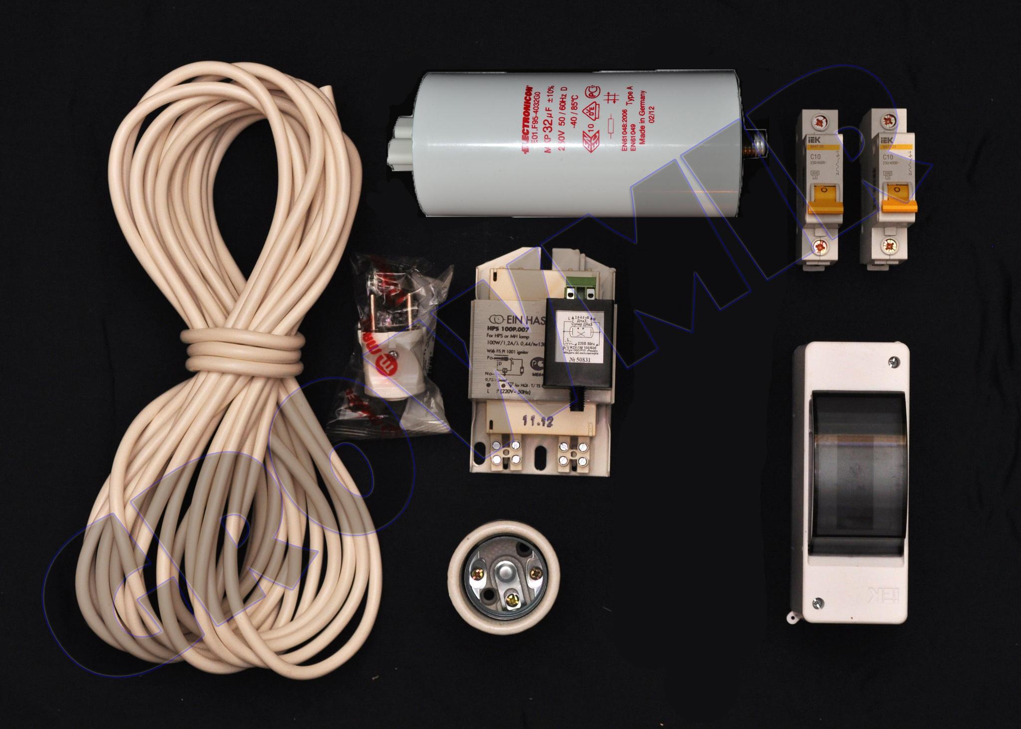 Комплект освещения ДНаТ 100 Вт (с конденсатором)