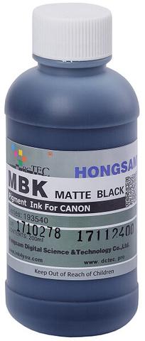 Чернила DCTec PFI-1700Mbk, PFI-120Mbk, PFI-320Mbk матовый черный (matte black). 200мл пигмент (193540)