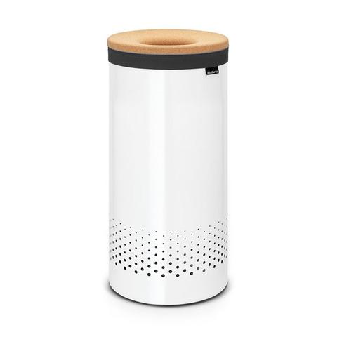 Бак для белья с пробковой крышкой (35 л), Белый, арт. 104367 - фото 1