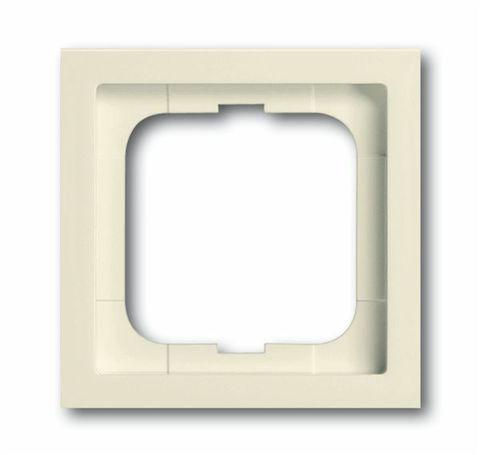 Рамка на 1 пост. Цвет Кремовый глянец. ABB(АББ). Future Linear(Фьючер Линеар). 1754-0-4506